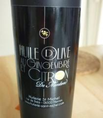 Huile d'olive gingembre et citron de Menton