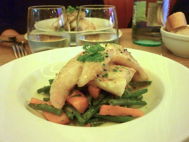 filets de merlan légumes au beurre