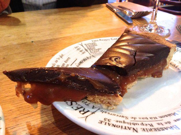 tarte chocolat caramel au ptit zinc