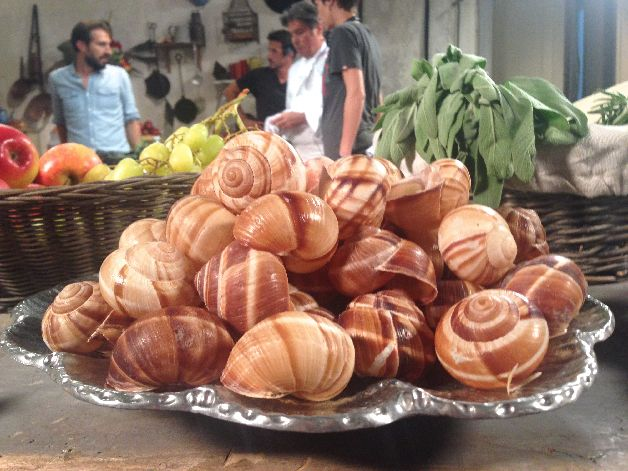 escargot repas de fete