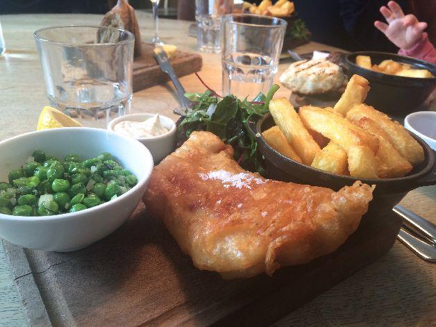 fish & chips tom's kitchen londres