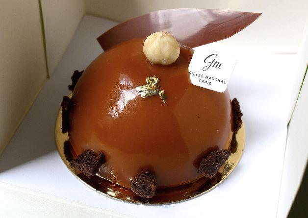 dome caramel chocolat gilles marchal patisserie paris