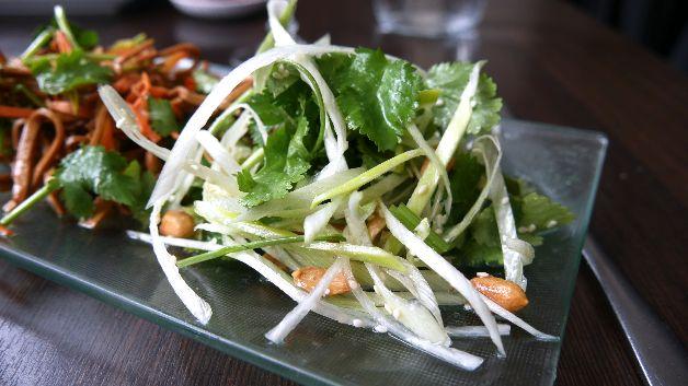 salade de coriandre les jardins de mandchourie paris