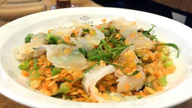 Salade lentilles cabillaud algues Juste Paris 9