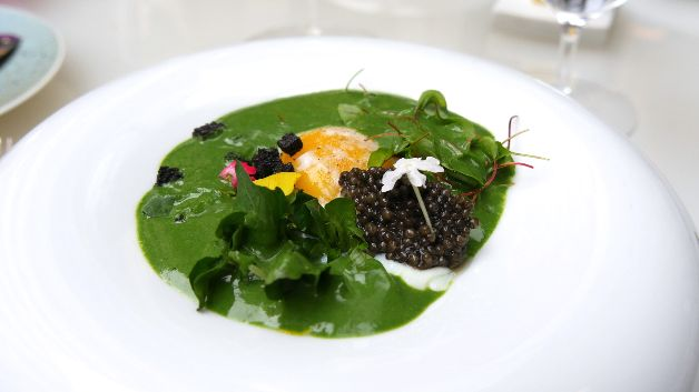Oeuf, cresson et caviar, L'Orangerie, Four Seasons George V Paris